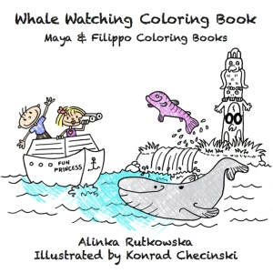 Whale Watching Coloring Book